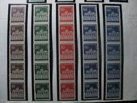 BERLIN GERMANY Mi. #286-290 mint MNH stamp strips of 5 w/ coil number CV $159.00