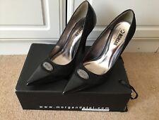 Gorgeous BLACK HEELS court shoes, Morgan De Toi, size 7, MORGAN