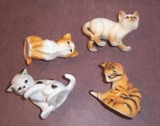 Cats Character Danbury 4 Figures Tail End Watching Out Wash Time Sitting Pretty