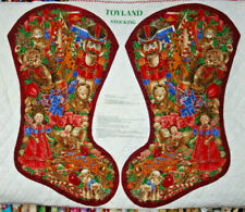 TOYLAND PRE-QUILTED CHRISTMAS STOCKING - 100% COTTON FABRIC