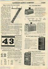 1928 ADVERT Myers Store Rolling Ladder Dietz Lantern Kerosene Railroad Monarch