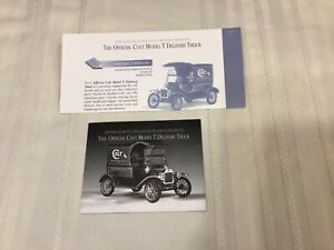 Franklin Mint Ford Colt Model T Delivery Truck Paperwork Only Diecast 1:16