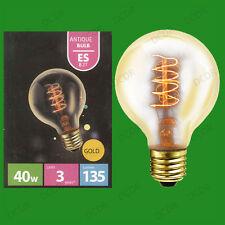 4x 40W Vintage Antique doré G80 à variation Globe Ampoule, Visse ES E27 Lampes