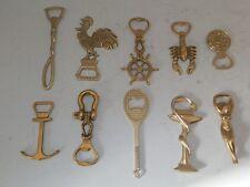 SET 10 Cavatappi in ottone per tappo corona vite tascabile bottiglie collezione