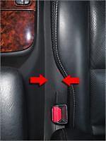 Car Seat GAP BLOCKER-see VIDEO demo inside!  STOP DROP CREVICE CATCH CADDY