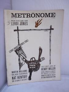Metronome Magazine 1961 - Henry Miller, Leroi Jones, Jack Teagarden etc