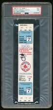 1986 ALCS Game 7 Red Sox-Angels Full TIcket PSA 9 MINT Red Sox Win Pennant