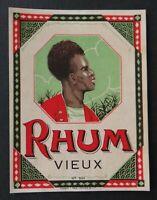 Étiquette spécimen de représentant RHUM modèle 546 rum bottle label