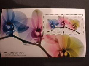 Ireland Stamps 2014 Mnh Mini Sheet RDS Dublin World Flower Show.