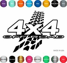 22in x 32in  4X4 OFF ROAD Mud Tire Decal Sticker Vinyl Wrap SUV ATV Truck Pickup