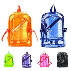 Transparent Clear Plastic Waterproof Backpack Teenage Jelly School Shoulders Bag