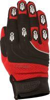 Weise Dakar Red Black Leather Mesh Lycra MX Motocross Motorcycle Gloves