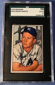 1952 Bowman Mickey Mantle SGC 4