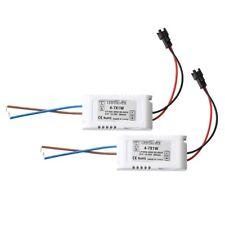 2 Trasformatore Driver Bianco 4-7W AC-DC 85-265V 12-25V per LED Lampada Nu G2V2