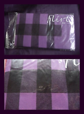 NEW one size Black /Purple checkered Tights from Flirt Hosiery 50/60 Denier BNIP