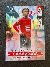 2020-21 Topps Chrome UEFA CL Joga Bonito Rookie Eduardo Camavinga Stade Rennais