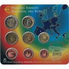 EUR, Spain, Euro Set of 8 coins, 2002 #93539