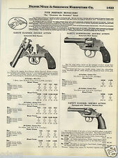 1924 PAPER AD Iver Johnson Revolver Western Walnut Grip Double Sction