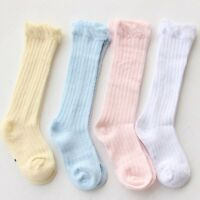 Baby Kids Toddler Summer Cotton Knee High Socks Tights Leg Warmer Stockings 0-3Y