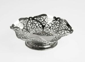 Vintage Silver Sweetmeat Dish with Pierced Sides - SJ Rose London 1974