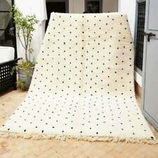 Beni ourain black dots Handmade-Moroccan-Rug-Beni-Ourain-Azilal-Wool-Carpets