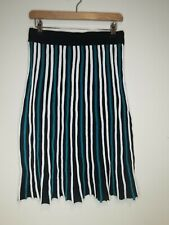 Ladies a-line skirt black blue white size S viscose Mitzy