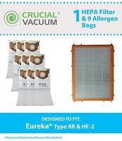 9 REPL Eureka RR Bags/1 HF2 Filter Part # 61115 61115A 61115B 63295A 61111