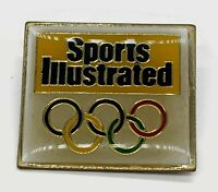 Sports Illustrated Enamel Olympic Rings Lapel Pin 1980's made in Taiwan
