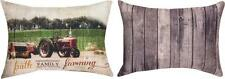 "FAITH FAMILY FARMING Decorative Throw Pillow, 18"" x 13"", by Manual Weavers"