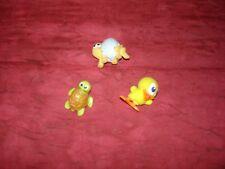 Überraschungsei-Figuren, 3 Stück, 2 Schildkröten, ein Küken, gebraucht, Kunststo