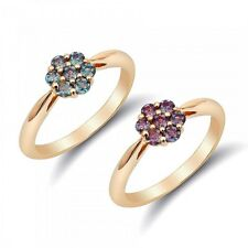 Natural Alexandrite 0.42 carats set in 14K Yellow Gold Ring