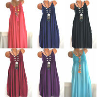 Boho Plus Beach  Size Summer   Summer  SundressMini Dress Women Fashion Cami