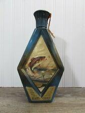 Vintage Jim Beam Decanter J Lockhart Large Mouth Bass Blue Empty Bottle
