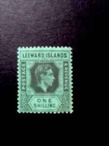 leeward islands GVI SG 110 1/- GVI Medium hinge. Chalky Paper.