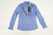 Comma Damen Business Bluse blau weiß Streifenoptik NEU Gr. 36 UK 10 #717