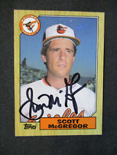 Scott McGregor Baltimore Orioles Autographed Signed 1987 Topps #708 NM 470