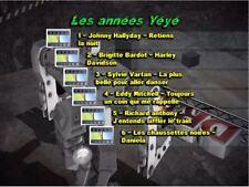 "!!!NEW!!!DVD Karaoké multipistes ""Les années Yéyé"" (30 titres home made)"