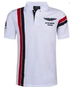 Aston Martin Polo Racing Shirt (New, Trendy Polo)  All Sizes L