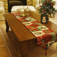 Christmas Decorative Table Runner and Placemats Flower Table Runner Cloth YF