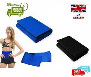 Waist Trainer Cincher Trimmer Sweat Belt Slim MEN WOMEN Body Shapewear UK