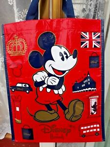 DISNEY at HARRODS Mickey Mouse 18 x 12 x 6in Re-usable Shoppers BAG  * NEW