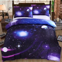 Solar System Planets Stars Adult Kids Bedding Set Duvet Cover Single Double King