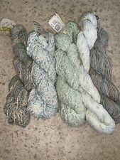 New listing 5 Skeins Cotton Rayon Yarn Mixed Lot Green blue Multi Color