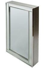 Spiegelschrank Badschrank silber modern Schmuck Kosmetikspiegel Wandschrank 80cm