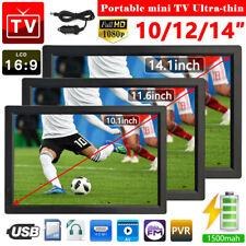 10/12/14 Zoll Tragbar TFT Mini TV Auto DVB-T/DVB-T2 Digital LED Fernseher 12V