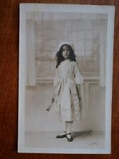 Lot64g YOUNG GIRL in COSTUME Studio Photograph Postcard c1920's