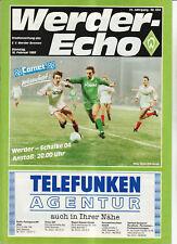 BL 87/88 SV Werder Bremen - FC Schalke 04
