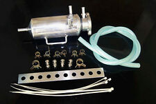 Universal Engine Coolant Radiator Overflow Breather Air Bleed Catch Tank Can Kit