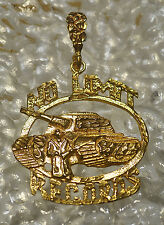 COOL HUGE No Limit Soldier Pendant Charm Records Jewelry Gold Plated Sterling si