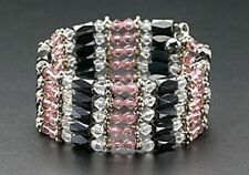 New Wrap Magnetic Bracelet Necklace Hematite Beads Purple Crystals Free Shipping